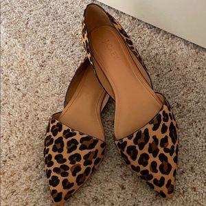 J crew D'orsay cheetah leopard flats